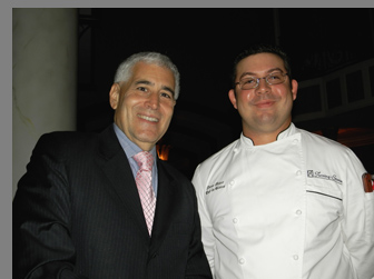 Chef Steve Batur, Edward F. Nesta - photo by Luxury Experience