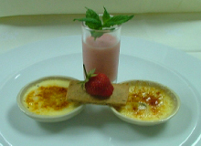 Executieve Sous Chef Francesco Colore of Trattoria San Lawrenz, Gozo, Malta - Duet of Brulee