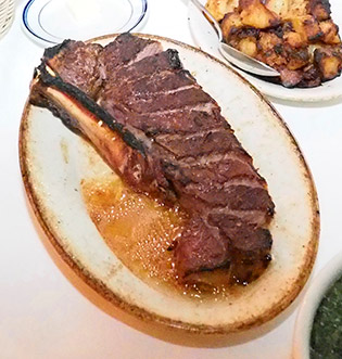 New York Sirloin Steak - Tuscany Steakhouse, NY, NY, USA - photo by Luxury Experience