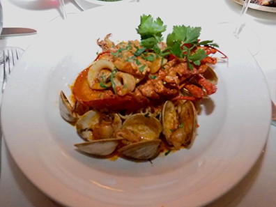 Seafood Pasta - Tuscany Steakhouse, NY, NY, USA - photo by Luxury Experience