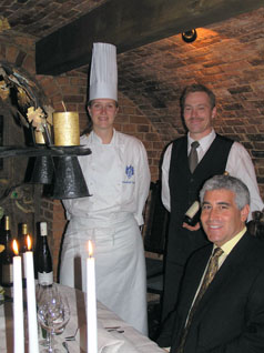 Chef Anna Sara Johansson, Christar, and Edward F. Nesta