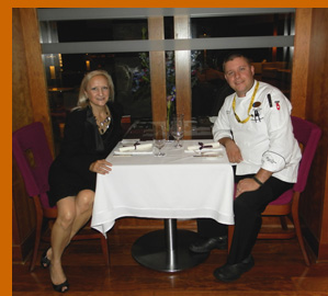 Chef Dustin Tuthill, Debra Argen - Photo by Luxury Experience