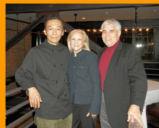 Chef Michael Williams, Debra Argen, Edward at Winston restauranant, Mt. Kisco, NY - Photo by Luxury Experience