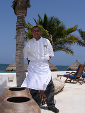 Executive Chef Santiago Kantun of Xtabay Restaurant, Riviera Maya, Mexico