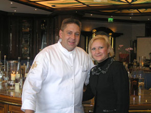 first floor Chef Matthias Buchholz and Debra C. Argen in Berlin, Germany