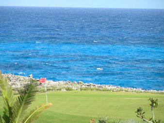 Multi-hued Ocean with Golf Course View