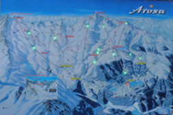 Map of Ski Trails in Arosa, Switzerland
