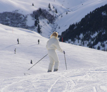 Debra C. Argen enjoying skiing in Arosa, Switzerland
