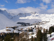 View from Terrace at Tschuggen Grand Hotel Arosa, Switzerland