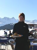 Lunch at Hof Maran in Arosa, Switzerland