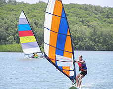 Windsurfing at Comandatuba