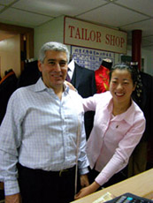 Beijing, China - Beijing Yuanlong Silk Corporation, Ltd. - Getting fitted for suite