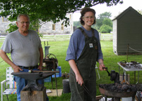 Blacksmiths Bill Scheer and Gretchen Burch - Hancock Shaker Village, Massachusetts, USA - Photo by Luxury Experience