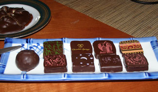 Handmade Chocolates at  Chocolate Springs Desserts and Cafe, Lenox, Massachusetts- Photo by Luxury Experience