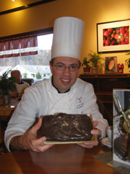 Joshua Needleman of  Chocolate Springs Desserts and Cafe, Lenox, Massachusetts- Photo by Luxury Experience