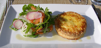 Salmon and Artichoke Quiche at Wheatleigh, Lenox, Massachusetts- Photo by Luxury Experience