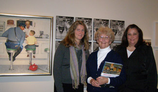 Suzanne Barrett, Anne Oppermann, Tammy DePolo at The Norman Rockwell Museum, Stockbridge, Massachusetts- Photo by Luxury Experience