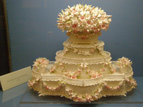 Wedding Cake by Ms. Cile Bellefleur Burbidge at Ventfort Hall Lenox, Massachusetts- Photo by Luxury Experience