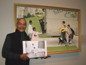 Wray Gunn, Jr. at The Norman Rockwell Museum, Stockbridge, Massachusetts- Photo by Luxury Experience