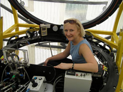 Debra in 2 person submersible - Carolyn