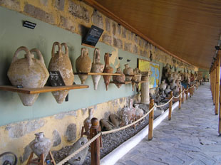Rows of amphorae at Bodrum Castle