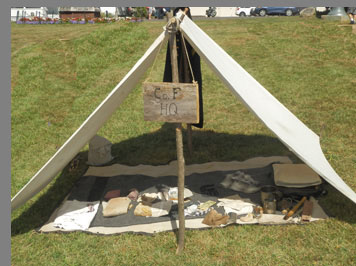 Civil War Pup Tent - Booth Memorial Park & Museum- Stratford, CT, USA - photo by Luxury Experience