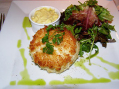 Crab Cakes at The Cafe, Taj Boston