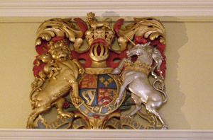 Lion and Unicorn Coat of Arms - Old State House Musuem