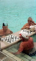 Chess at the spa