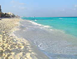 Cancun Gorgeous White Sand Beach.