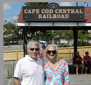 Edward Nesta & Debra Argen - Yankee Clipper Train - photo by Luxury Experience
