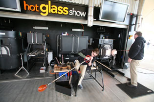 Corning Museum Glass - Hot Glass Show  on the Celebrity Cruises Solstice Class Eclipse