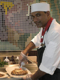 Chef preparing Crepes at Bistro on Five - Celebriity Cruises Eclipse - photo by Luxury Experience