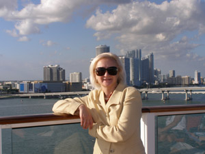 Debra onboard Celebrity Cruises Eclipse - photo by Luxury Experience