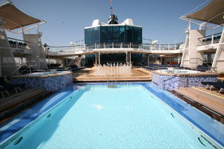 Outdoor Pool on the Celebrity Cruises Solstice Class Eclipse