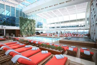 Solarium on the Celebrity Cruises Solstice Class Eclipse
