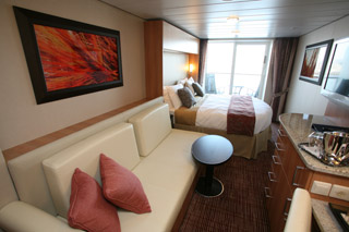 Sunset Veranda Guestroom on the Celebrity Cruises Solstice Class Eclipse
