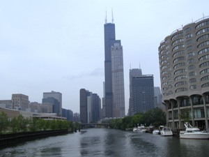 Chicago Skyline from Chicago River