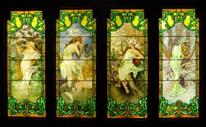 Smith Museum - Stained Glass - The Four Seasons