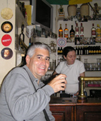 Edward F. Nesta enjoying a Guinness at Florry-Batt's, Kenmare, Ireland