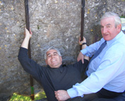 Edward F. Nesta kissing the Blarney Stone