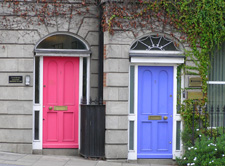Colorful Doors of Dublin, Ireland