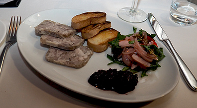 Pork Terrine - Granite Restaurant and Bar - Concord, NH - photo by Luxury Experience