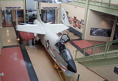 XF8U-2 Crusader Jet- McAuliffe-Shepard Discovery - Concord, NH - photo by Luxury Experience
