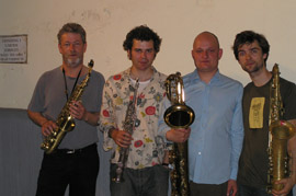 The Saxopaths at Copenhagen Jazz House, Denmark