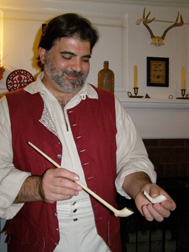 John Vegilii of the Joseph Horton House - Showing Clay Pipes