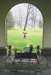 View from Porte Cochere at Locust Grove - The Samuel Morse Historic Site, Hyde Park, New York