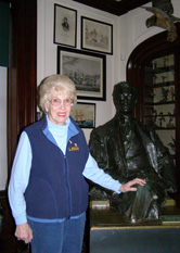 Mrs. Pat Rolff Conducting Tour at FDR Home, Hyde Park, New York