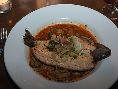 Beaverkill Trout - Woodnotes Grille - Emerson Resort & Spa- photo by Luxury Experience