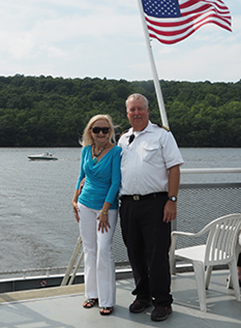 Debra C. Argen and Captain Jim McCann - Hudson River Cruises - photo by Luxury Experience